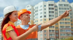 Motivating Employees - two happy contruction workers